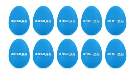 10x Kirstein ES-10B Egg Shaker blau Medium Set