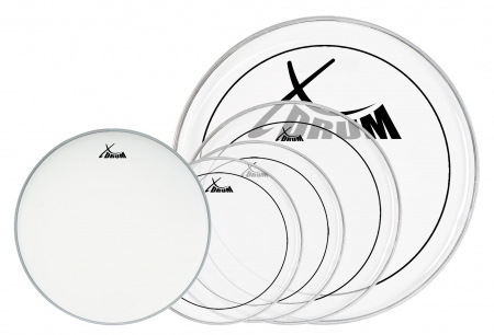"XDrum Oil Hydraulic Drum Head Set 12"" 13"" 16"" 22"" + 14"""