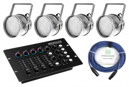 Showlite PAR-64 10mm LED set para comenzar incl. operador DMX