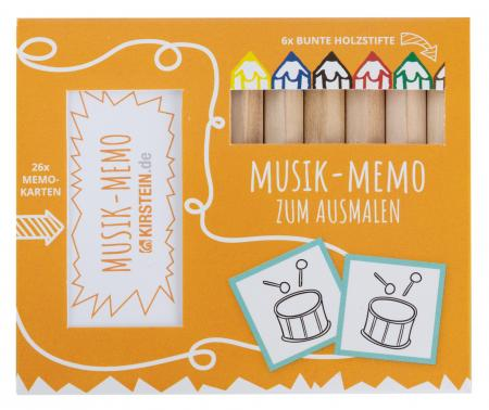 Kirstein Music coulour and create Memory Game including coulouring pencils