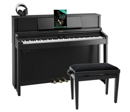 Roland LX-7 CB Digitalpiano schwarz matt SET mit Kopfhörer, Bank, Noten