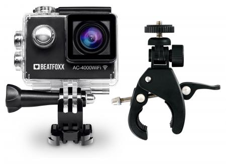 Beatfoxx AC-4000WiFi Action Camera + FlexClamp pinza morsa
