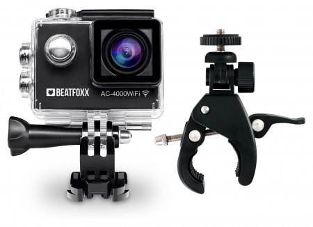 Beatfoxx AC-4000WiFi Action Camera + FlexClamp special mount