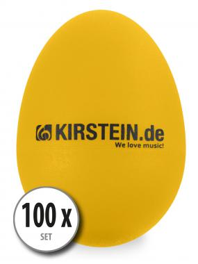 100x Kirstein ES-10Y Egg Shaker Yellow-Heavy Set