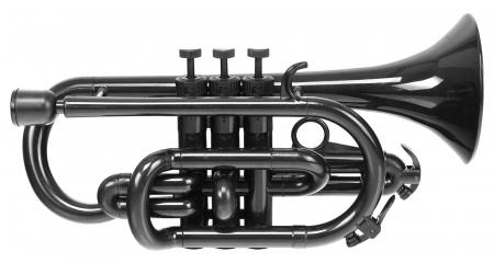 Classic Cantabile TROMBA Cornet in plastica nero