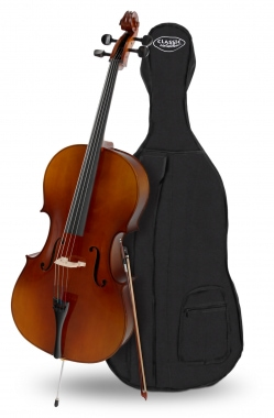 Classic Cantabile Student Cello 4/4 SET including bow + case