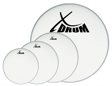 "XDrum Coated Drum Head Set 10"" 12"" 14"" 22"""