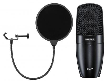 Shure SM27-LC Kondensatormikrofon Set inkl. Popkiller