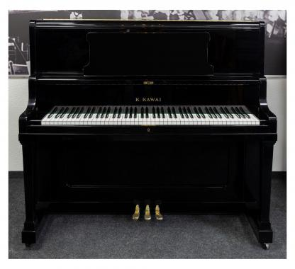 Kawai K48 Klavier schwarz poliert - Generalüberholt