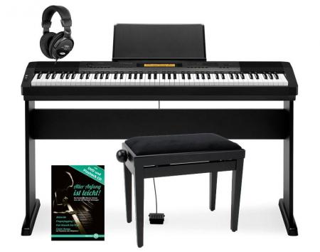 casio cdp 230r bk e piano schwarz deluxe set. Black Bedroom Furniture Sets. Home Design Ideas