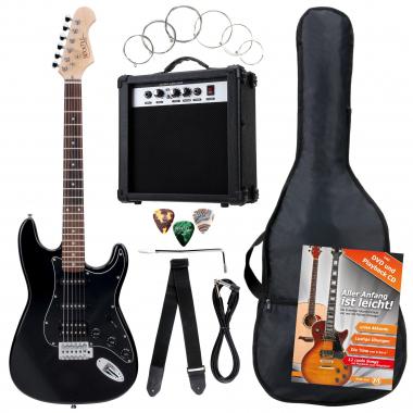 Rocktile Banger's Power Pack E-Gitarren Set, 8-teilig Black  - Retoure (Zustand: gut)