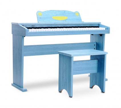 Artesia F-61WM Keyboard with 61 keys in digital piano design, blue