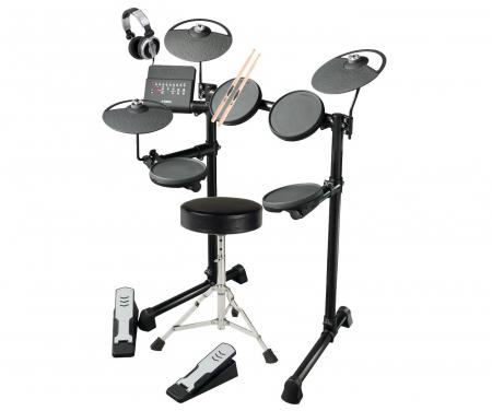 Yamaha DTX400K E-Drum SET con SGABELLO e CUFFIE - COMPLETA