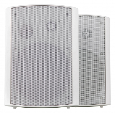 Dos altavoces de pared Pronomic USP-660 WH HiFi en blanco de 240 vatios