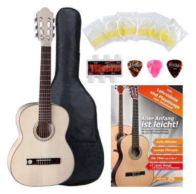 VGS Pro Natura Silver 1/2 Konzertgitarre Starter Set