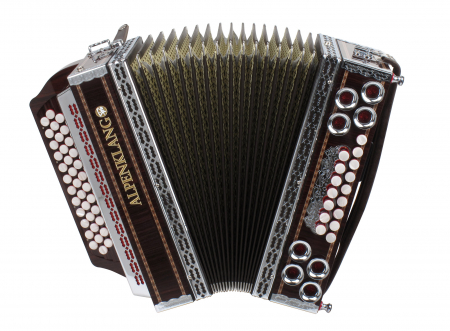 "Alpenklang Pro ""Deluxe"" accordion 4-row, 3-reeds"