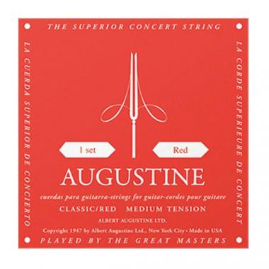 Augustine Gitarrensaiten Satz Medium Tension rot