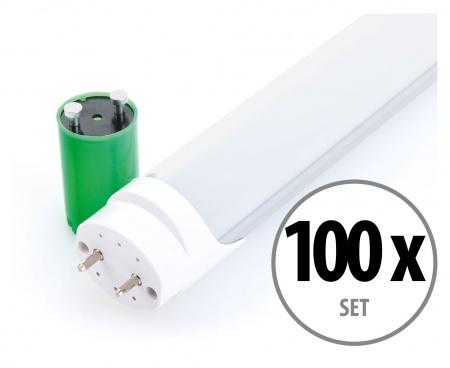 Showlite LED Tube Lights T8W10K45F-600 600 mm 10 watts Set of 100 (Daylight White 4500K)