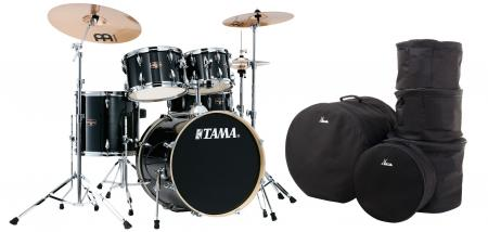 Tama IE50H6W-HBK Imperialstar Drumkit Hairline Black Set inkl. Gigbags