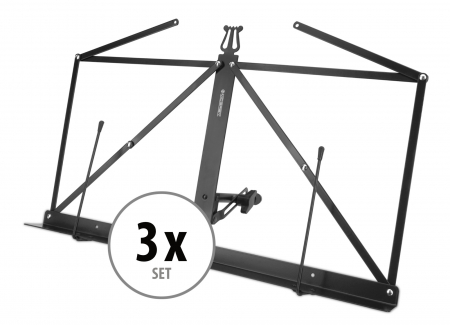 3x Set McGrey Table Music Stand –foldable