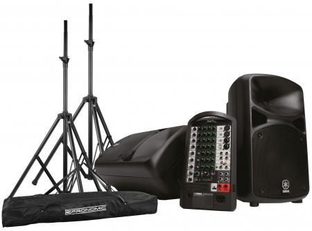 Yamaha Stagepas 600i Portable PA SET inkl. 2x Boxenstativ + Tasche