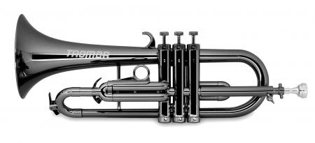 Classic Cantabile TROMBA Kunststoff Flügelhorn Schwarz Metallic
