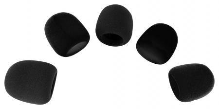 Pronomic WS-505 BK Windscreen 40-55 mm black, 5-piece set