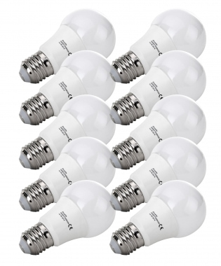 10x SET Showlite LED lamp  G60E27W09K30N 9 Watt, 860 Lumen, sokkel E27, 3000 Kelvin