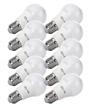 Set 10X Showlite bombilla-LED G60E27W09K30N 9 vatios, 860 Lumen, casquillo E27, 3000 Kelvin