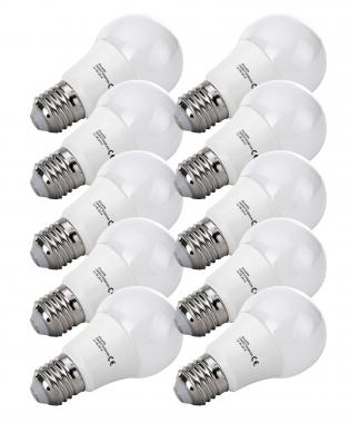 10-Piece SET Show Lite LED Bulb G45E27W05K30N 9 Watts, 860 Lumens, E27 Socket, 3000 Kelvin