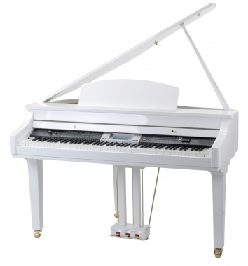 Classic Cantábile Piano digital GP-500 Colín blanco brillante