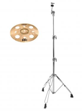 "Meinl Classics Custom Brilliant 12"" Trash Splash + gerader Beckenständer SET"