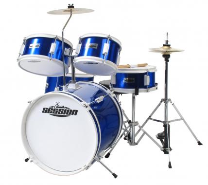 XDrum Junior Kinder Schlagzeug Blau inkl. Schule + DVD  - Retoure (Zustand: gut)