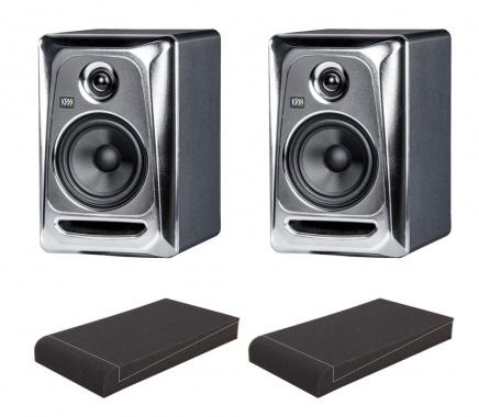 "KRK ROKIT RP5 G3 ES Limited Edition Studio Monitor SET mit 5"" Absorberplatten"
