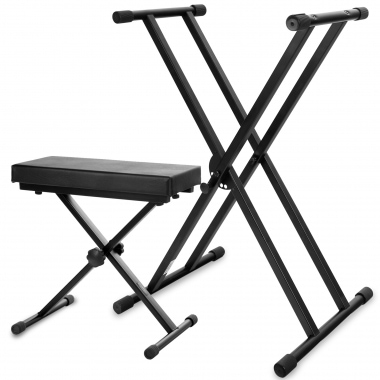Classic Cantabile Keyboard-SET Deluxe Keyboard Stand + Keyboard Bench