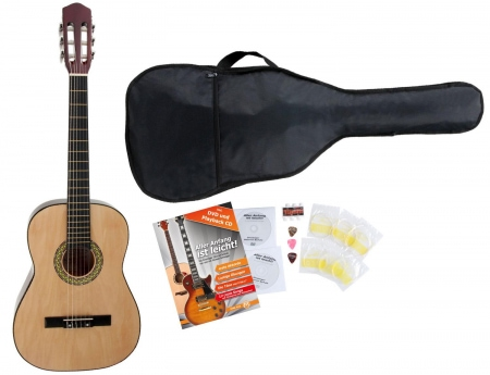 Classic Cantabile AS-651 Starter Kit chitarra classica, con 5 accessori