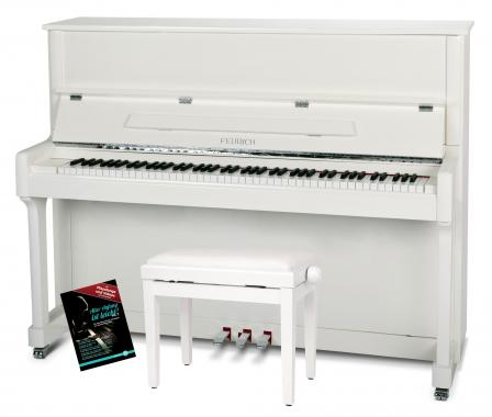 Feurich Mod. 122 Universal Piano Set Weiß - Chrom