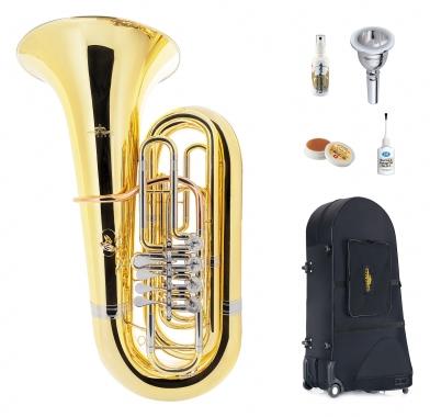 Lechgold BT18/4 Bb-Tuba lackiert Deluxe Set