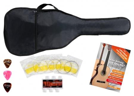 Classic Cantabile Guitare Folk / Western Set accessoires en 5 pièces