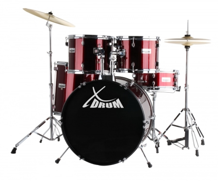 XDrum Classic Drums complete set red