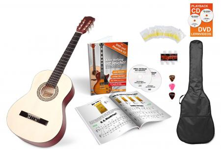 Calida Lucia 3/4-Size Acoustic Guitar Starter Set, Natural, With Accessories