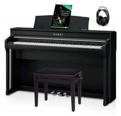 Kawai CA 78 B Digital Piano Schwarz Set inkl. Pianobank, Kopfhörer & Schule