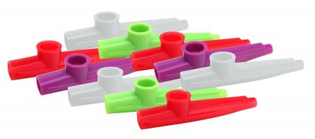 Classic Cantabile FUN Kazoo 10 Pack, plastic, different colors