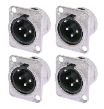 Neutrik NC3MDL1 XLR Einbaustecker male 4er Pack