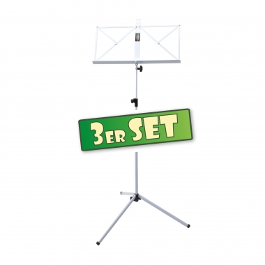 SET of 3 Classic Cantabile 100 Music Stand, White