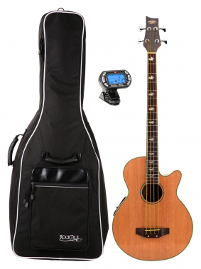 Classic Cantabile Acoustic Bass complete with gig bag and tuner
