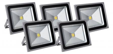 Showlite FL-2050 LED projecteur IP65 50 Watt 5500 Lumen SET de 5