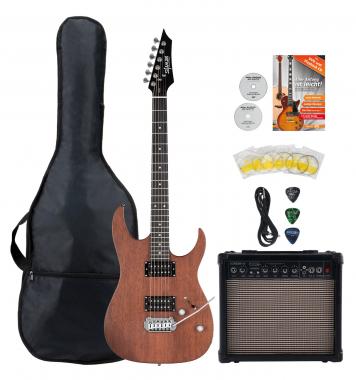 Shaman HX-100 E-Gitarre Satin Walnut Starter Set