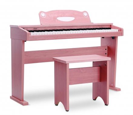 Artesia F-61WM keyboard à 61 touches au design de piano électronique, rose