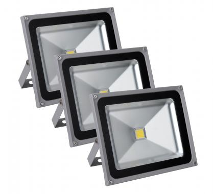 Showlite FL-2050 LED Projecteurs IP65 50 Watt 5500 Lumen lot de 3